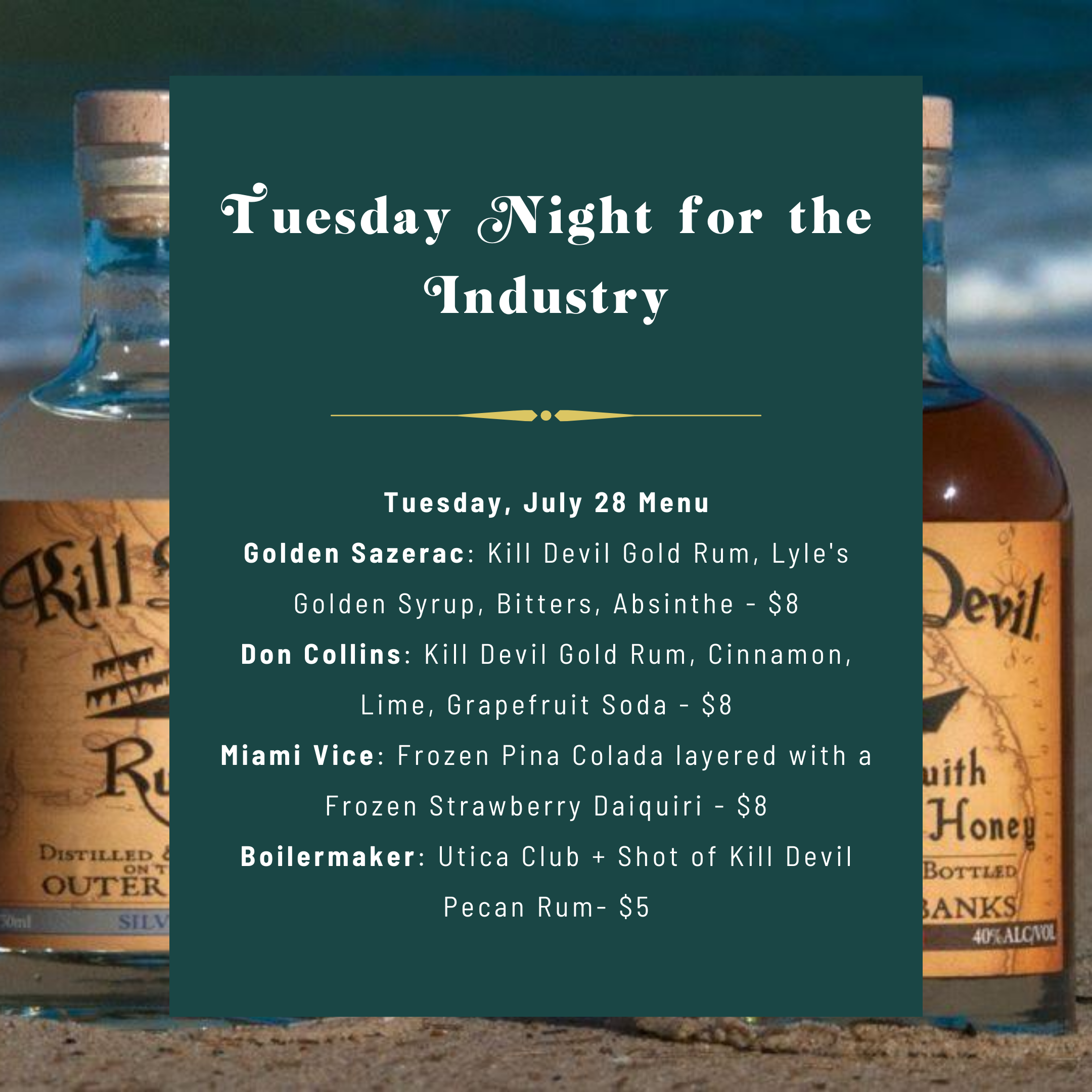 Killjoy Cocktail Raleigh - Tuesday Night for the Industry - July 28 2020
