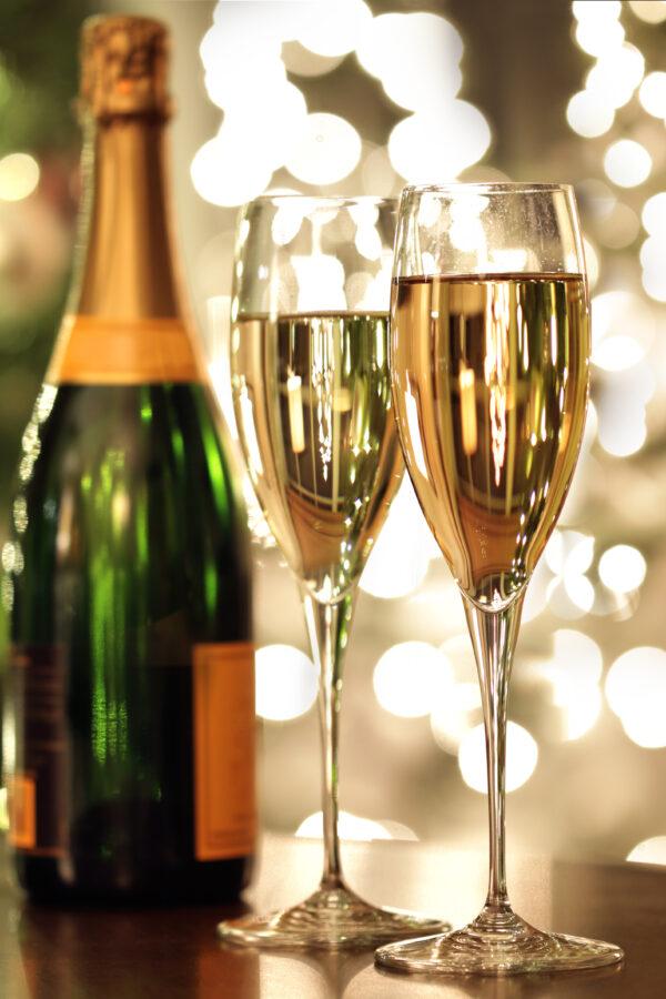 Champagne Bottle Event Glasses