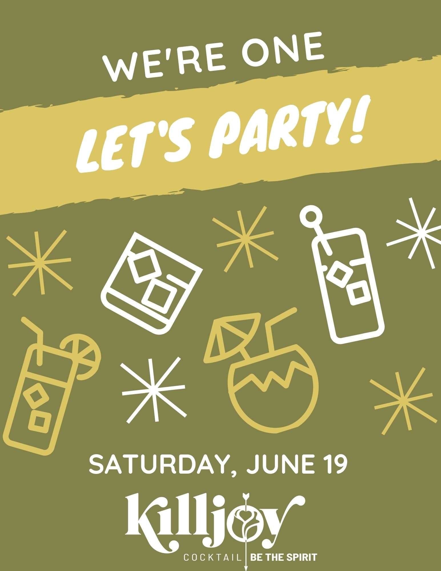 first anniversary party at killjoy