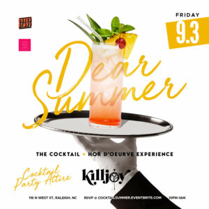 Killjoy Cocktail Party Friday September 3 2021